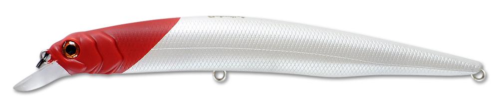 Воблер Fishycat Ocelot 125f X01 (белый/красный) 125мм (12,7г)