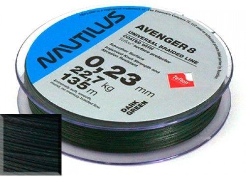 9637c816d7d Плетеная леска Nautilus Avenger 8 Teflon Green 92м 0.14мм купить по ...