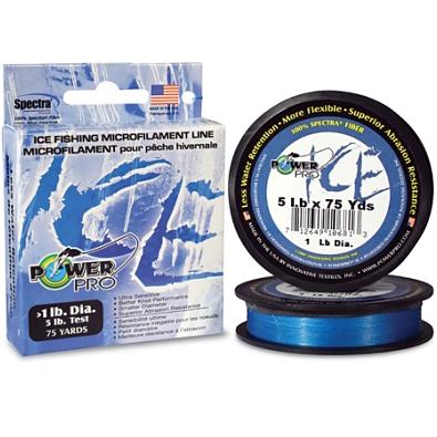 Леска плетеная Power Pro Ice Blue зимняя 0,13мм синий купить по ...