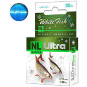 Леска зимняя Aqua NL Ultra White Fish (Белая рыба) 30 м
