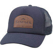 Бейсболка Simms Leather Patch Trucker