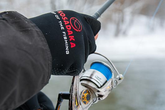 перчатки kosadaka неопрен fishing gloves-17 обрез 5 огонь черн р l